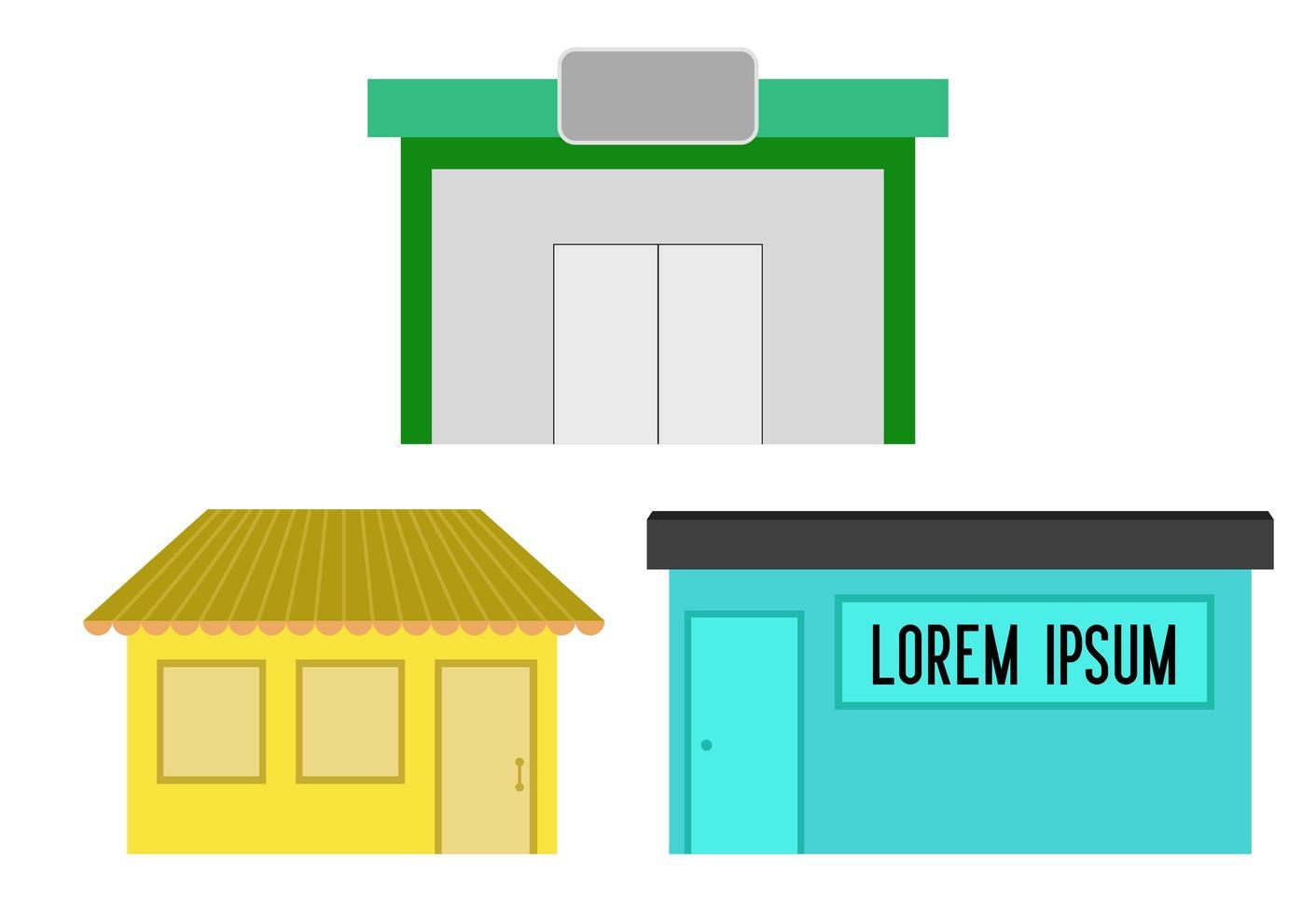conjunto de tienda simple vector