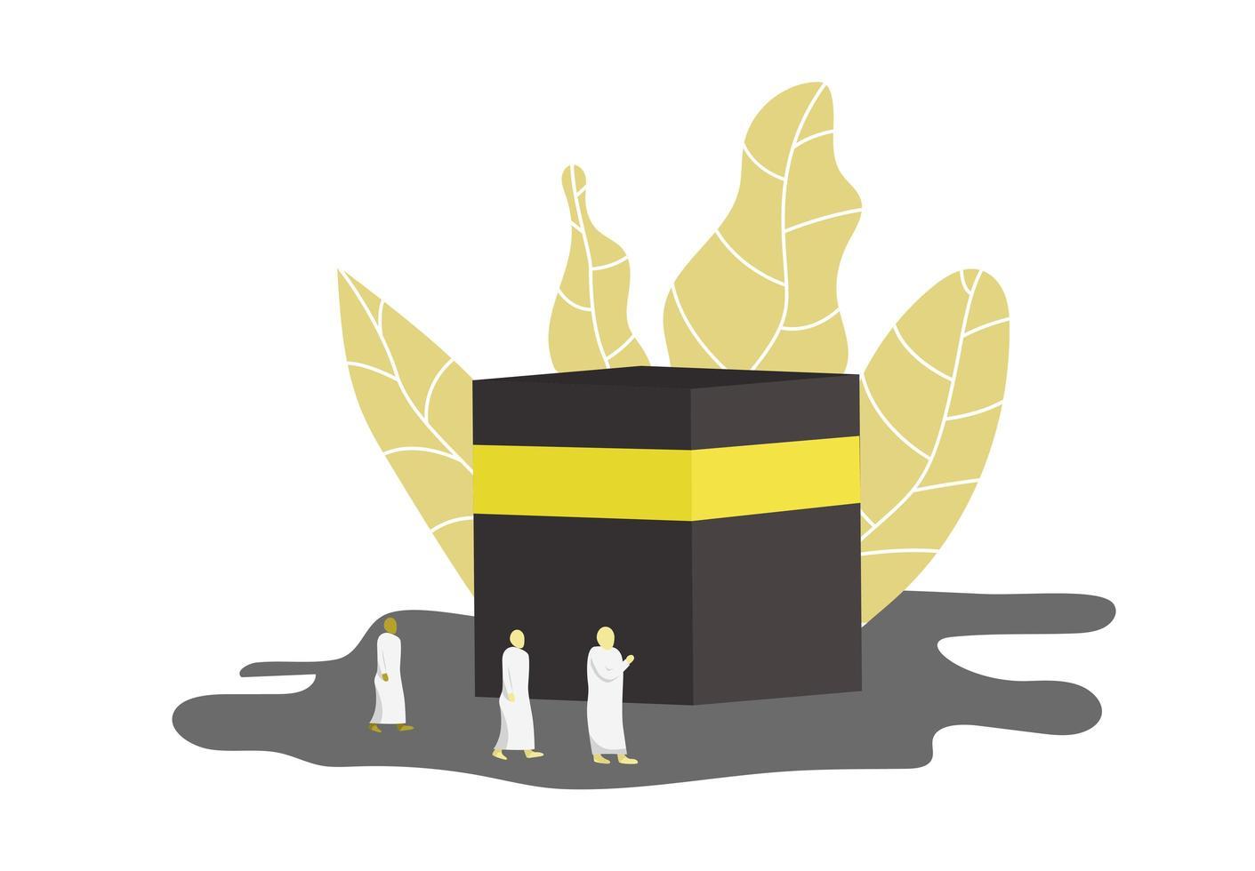 plantilla de diseño de oración islámica hajj vector