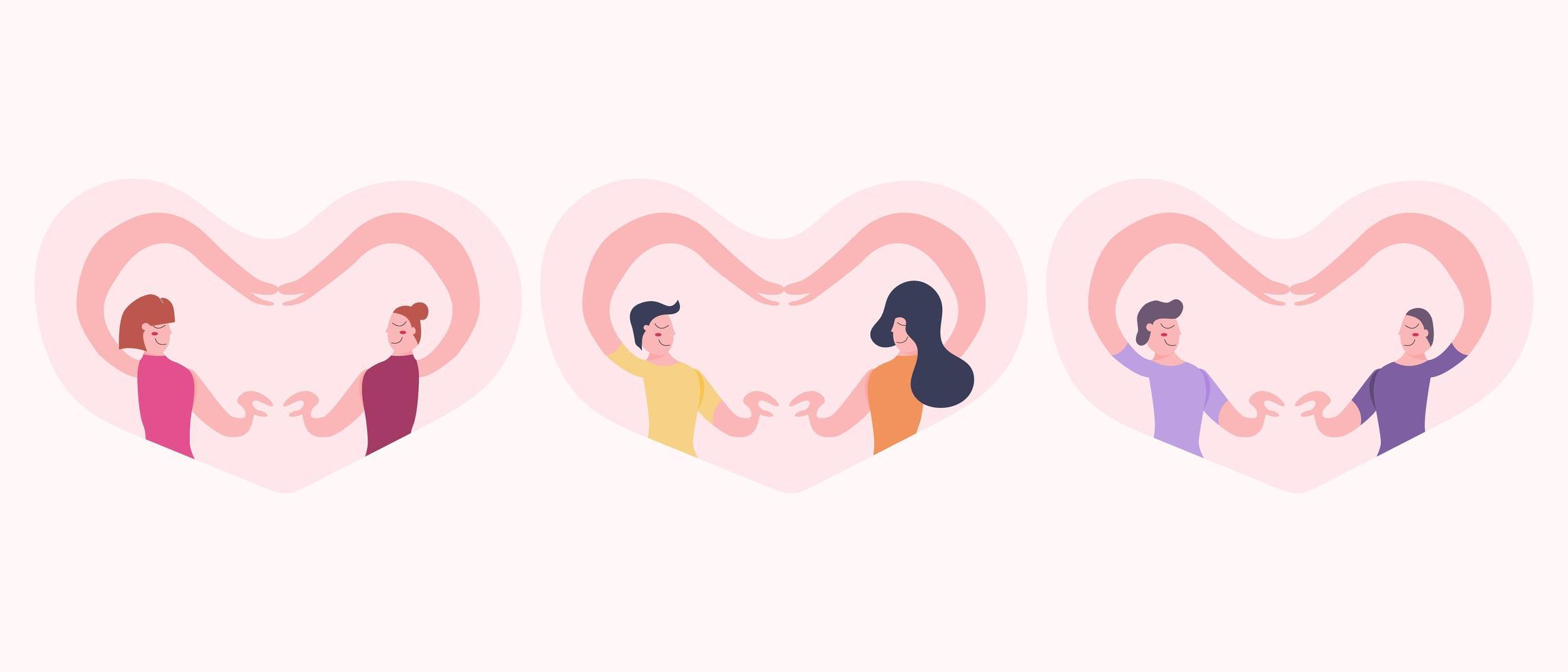 amore per il concetto di coppie di genere diverso vettore