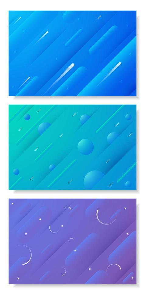 conjunto de cartazes de forma geométrica abstrata dinâmica vetor