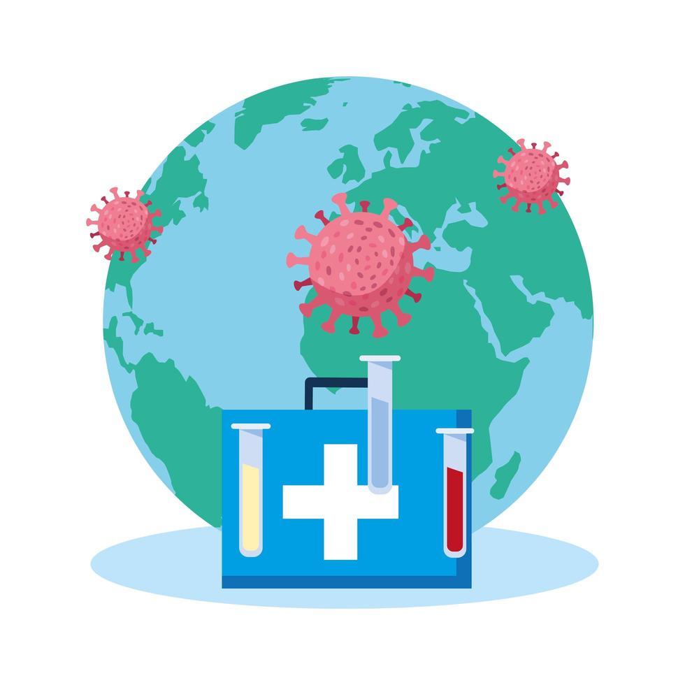 salvare il pianeta terra dalla pandemia vettore