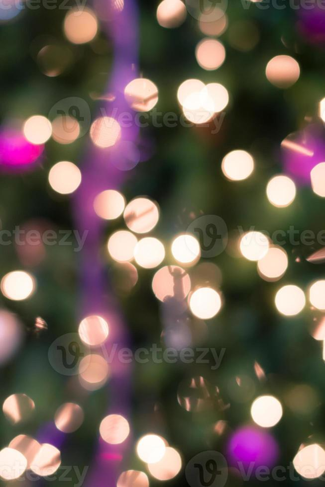 Holiday background with blurred lights photo