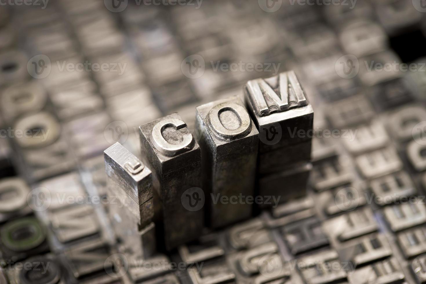 Internet www website by letterpress photo