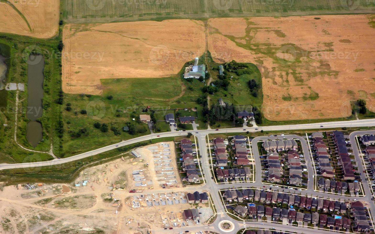 nuevo barrio en progreso foto