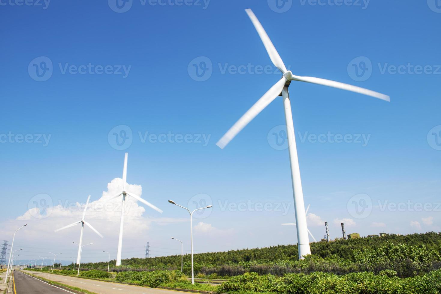 powerful and ecological energy concept photo
