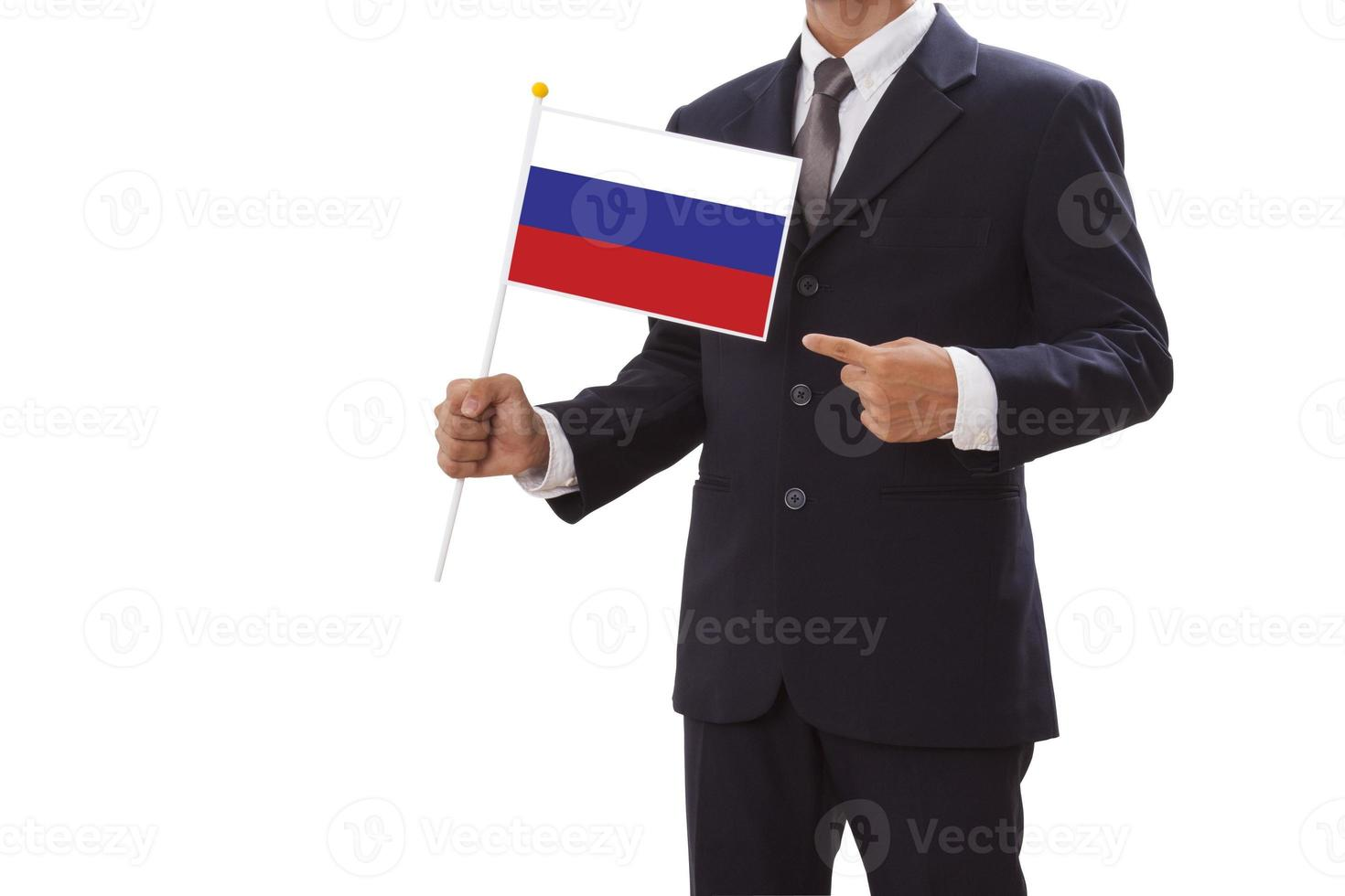 holding of the Russia flag photo