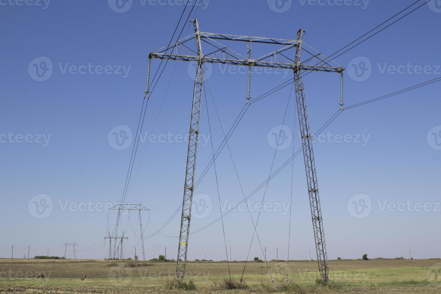 líneas de alta tensión foto