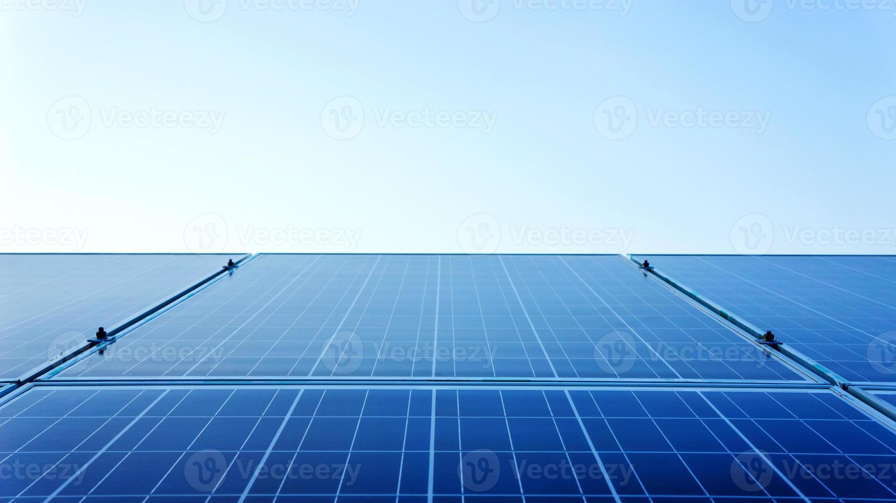 Solar Panels Against photo