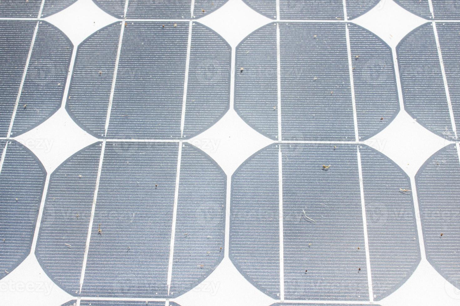 Background of used Solar Panels photo