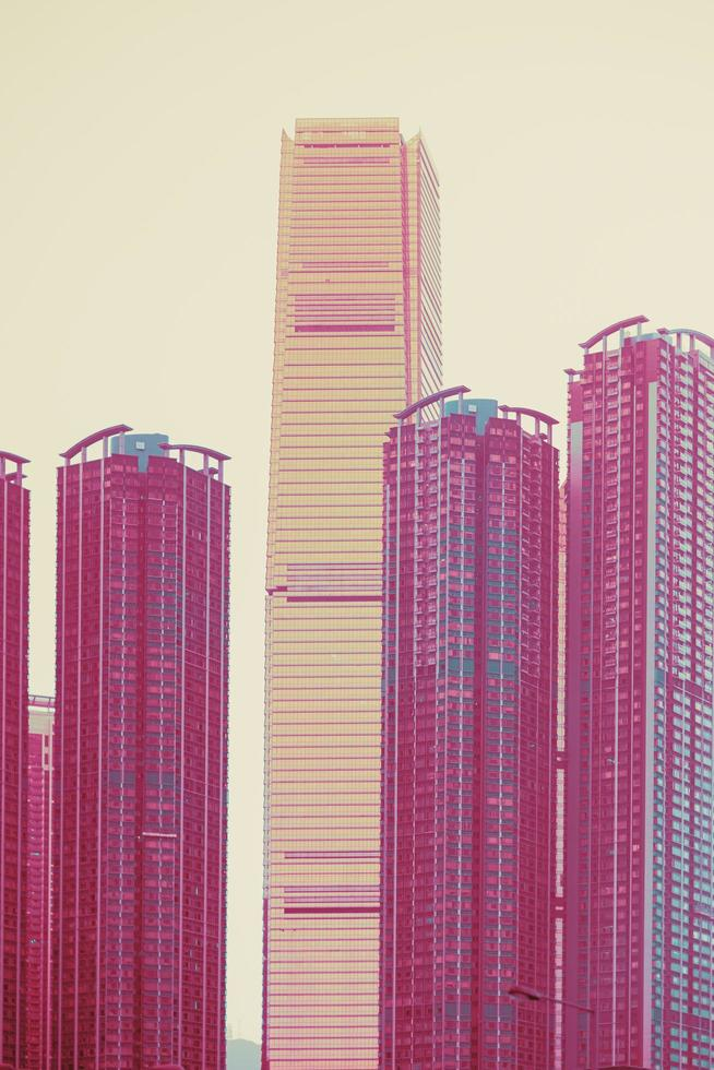 Four high rise buildings photo