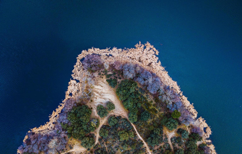 Bird's eye photography of island photo