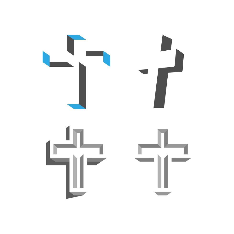 conjunto de cruces vector