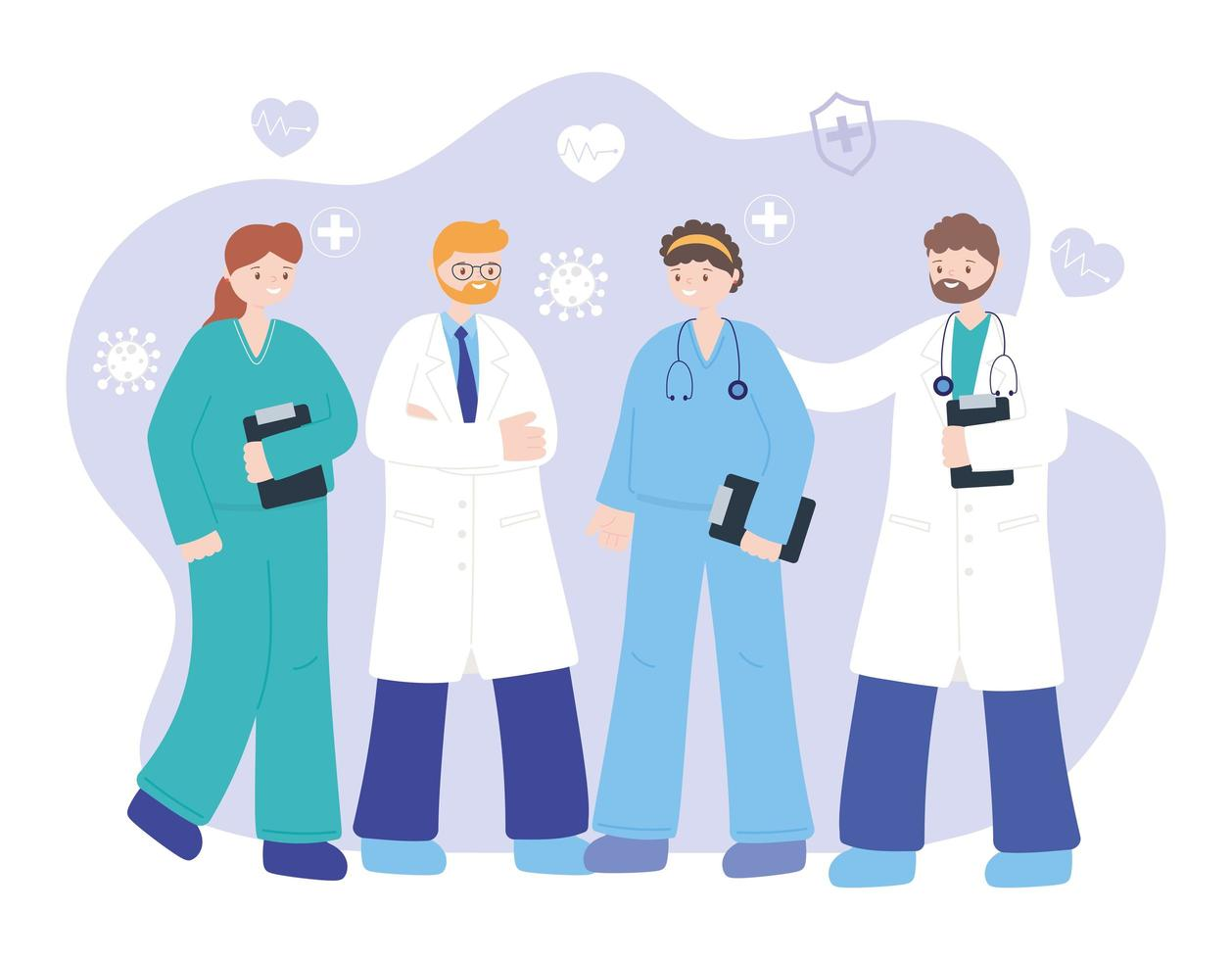 medici professionisti e personale infermieristico vettore