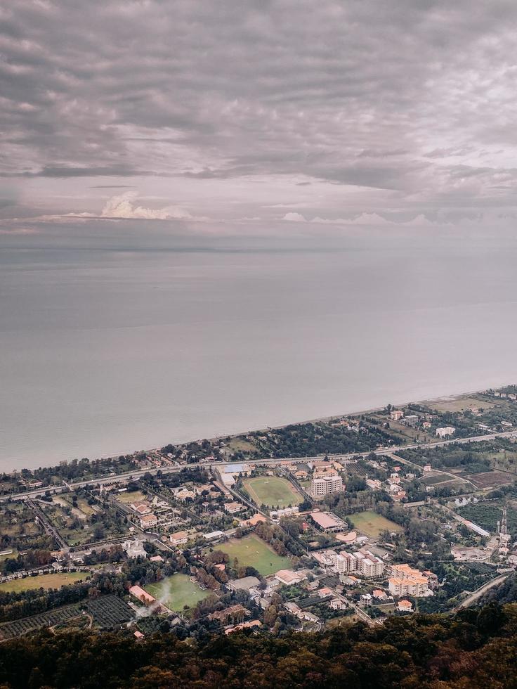 foto aérea del paisaje urbano