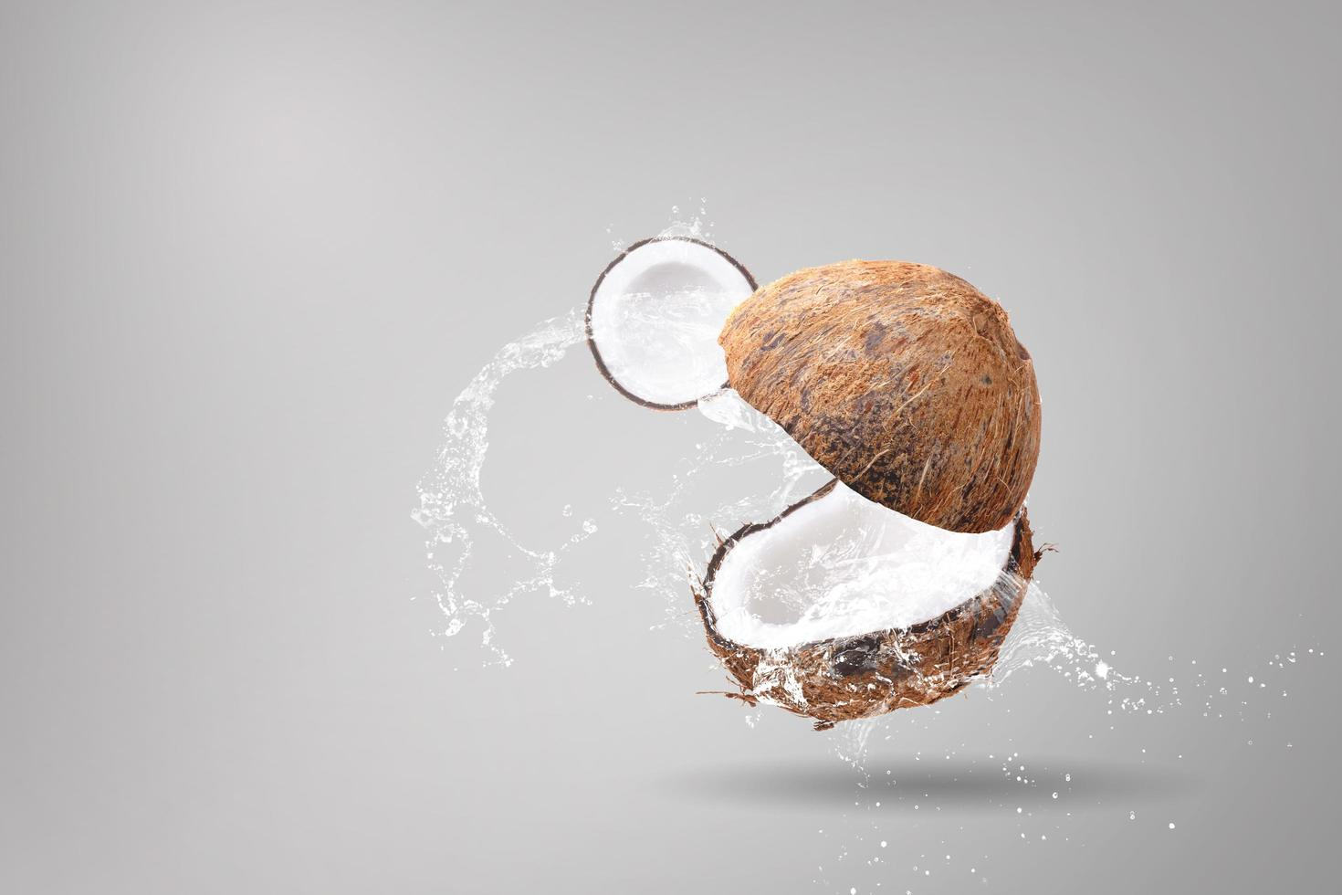 Water splashing on coconuts  photo