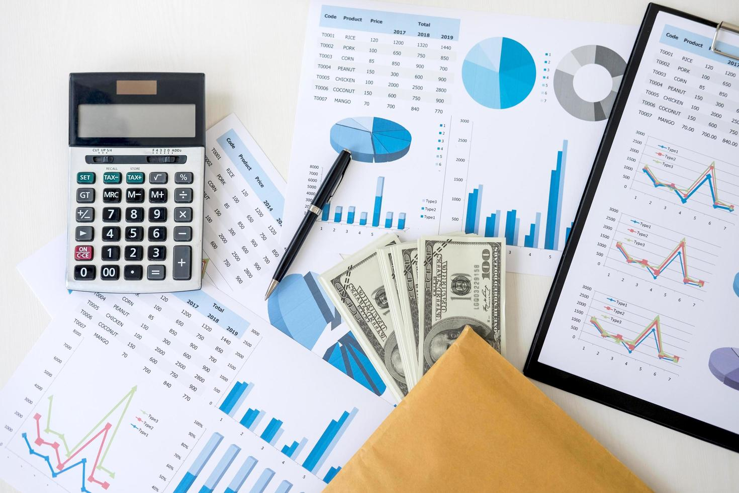 Business items for accounting photo