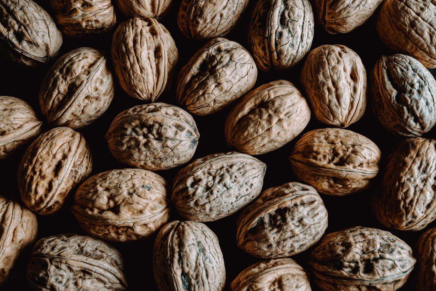Background filled with nuts  photo