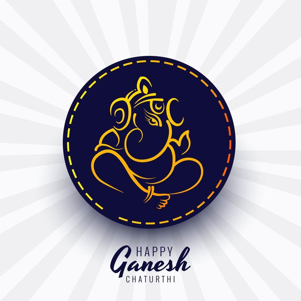 hermoso diseño de tarjeta del festival ganesh chaturthi vector