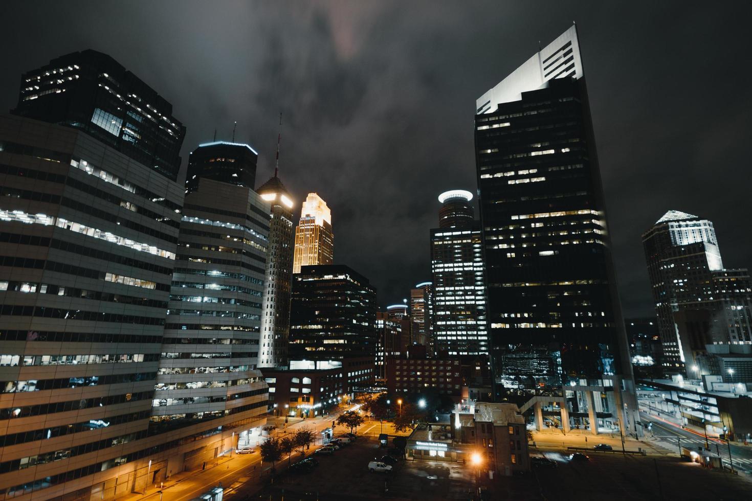 City high-rise buildings photo