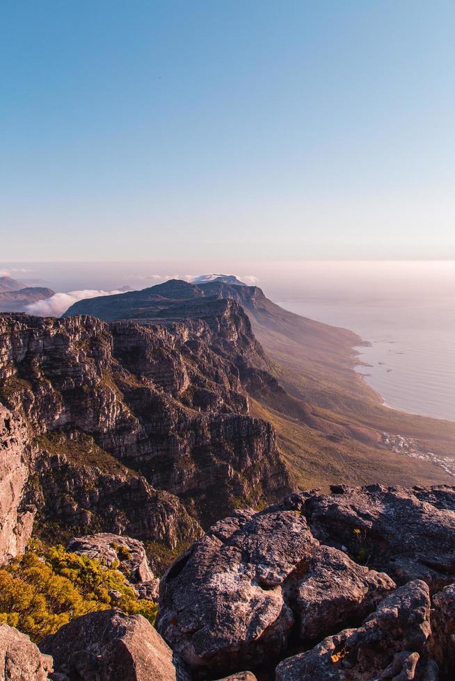 vista de la montaña en sudáfrica foto