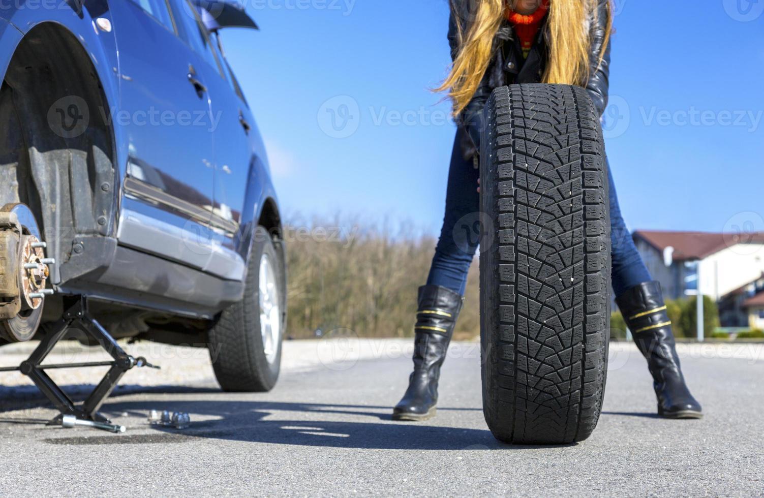 accidente inesperado en la carretera foto