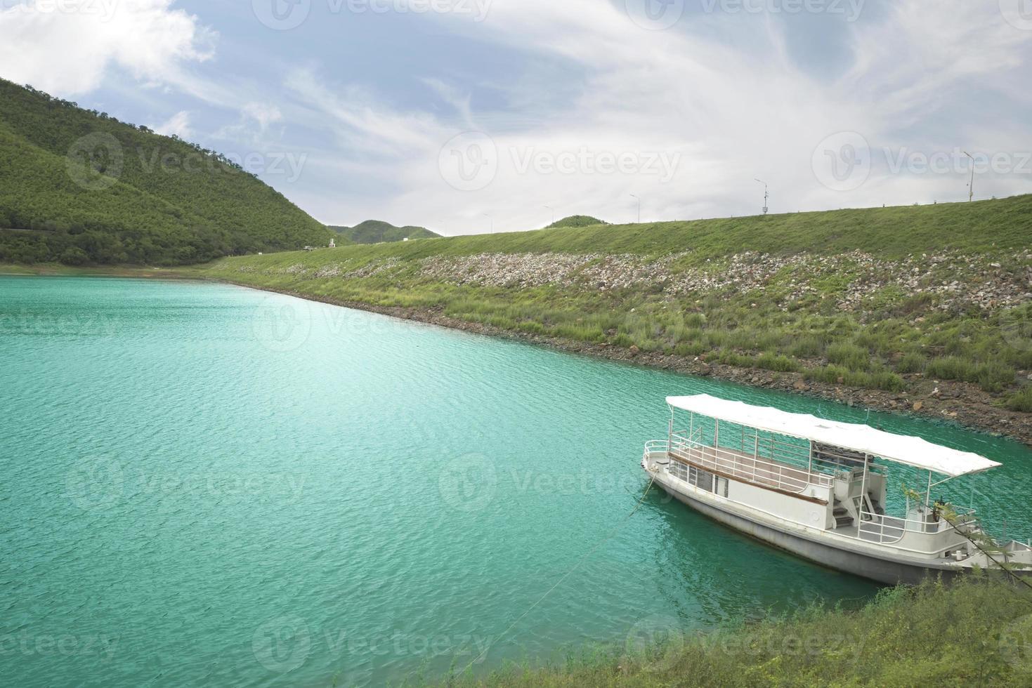 Empty boat in Kaeng Krachan national park photo