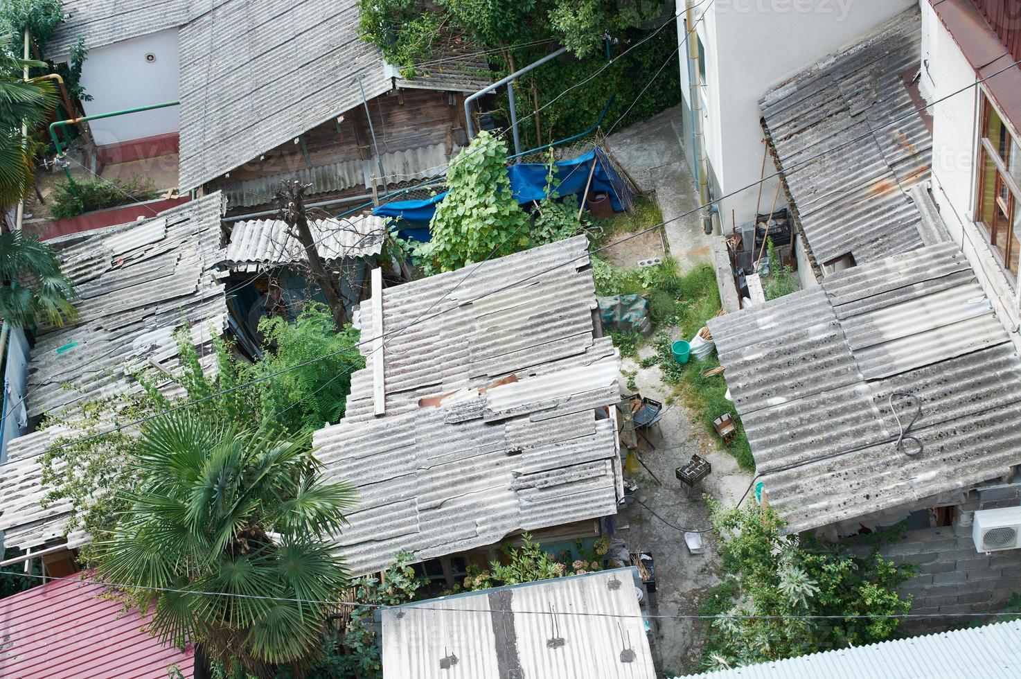 Roofs poor urban areas photo
