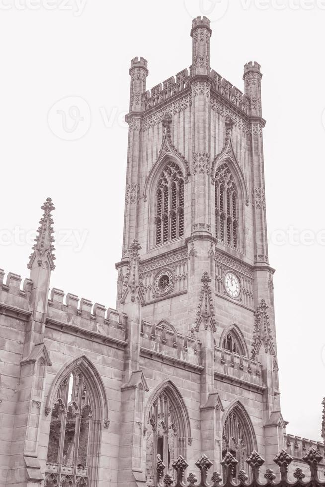 Las ruinas de la iglesia de San Lucas, Liverpool, Inglaterra foto