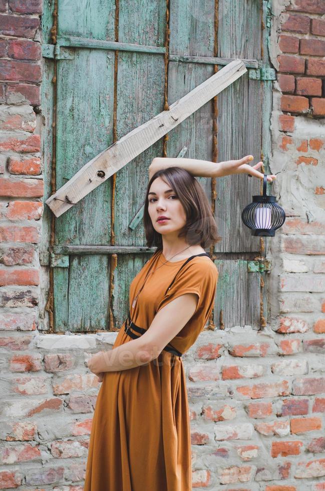 Beautiful dark-haired girl photo