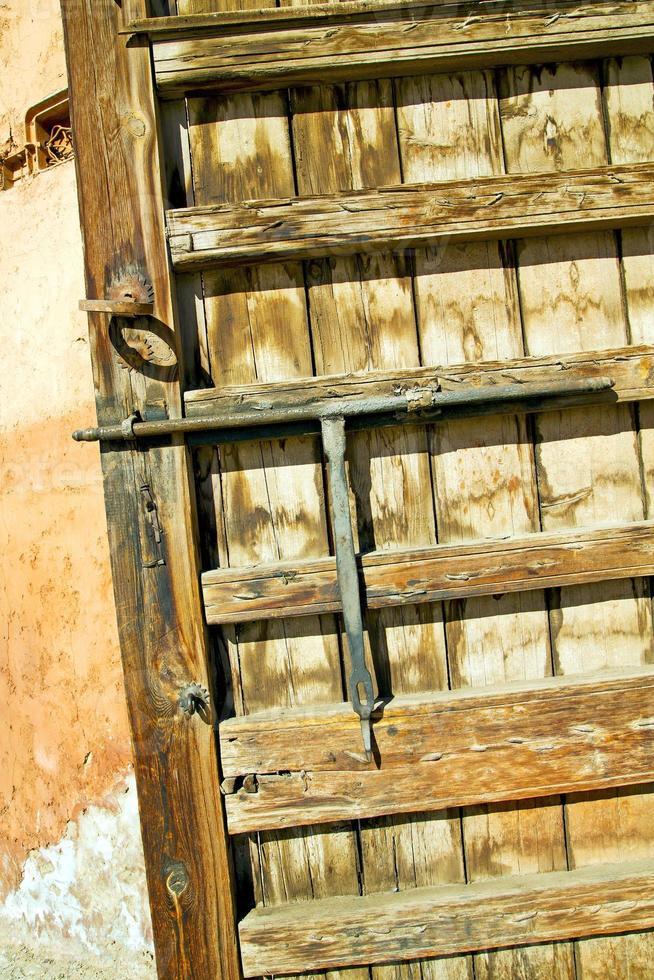 Marruecos oxidado en África la fachada hogar y seguro foto