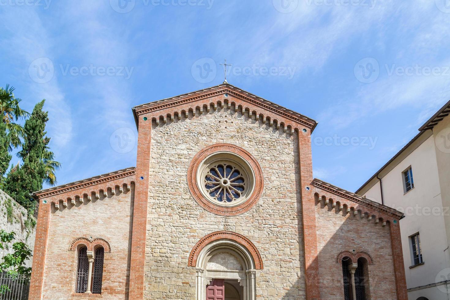 Facade of XIV Catholics parish church in Italy photo