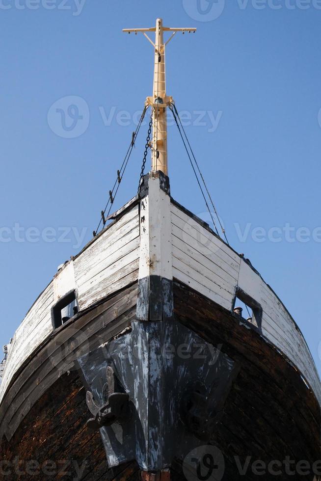 proa del barco viejo foto