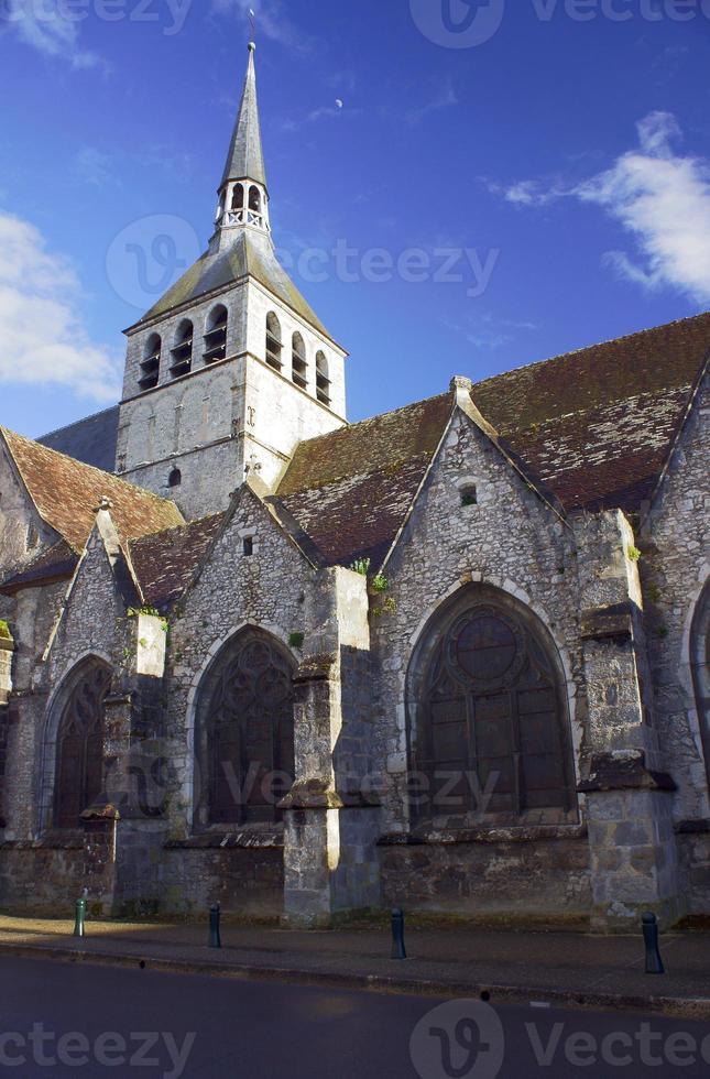 la iglesia gótica de santa croix en provins foto