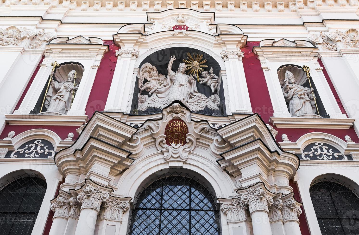 Detail of the facade of the Church photo