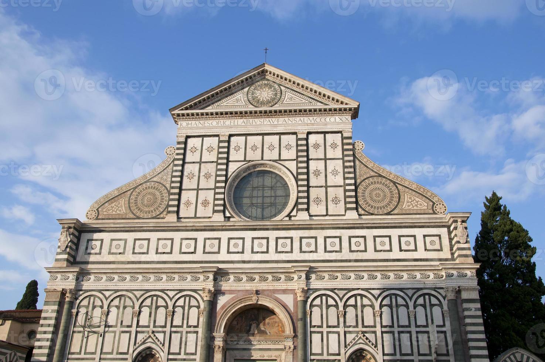 Santa Maria Novella facade in Florence, Italy photo