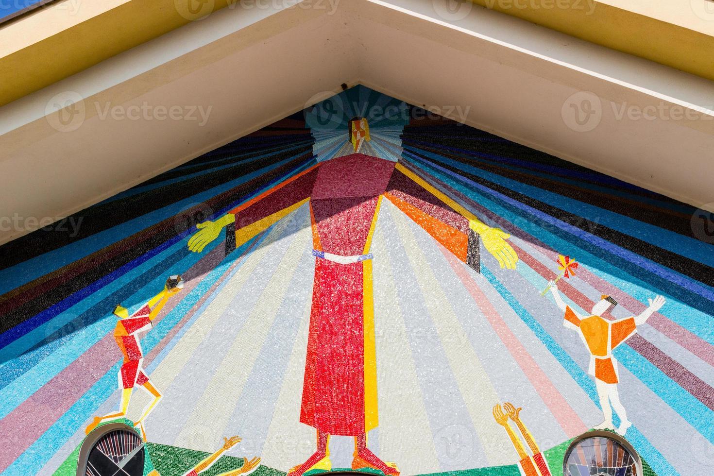 mosaico en medjugorje foto