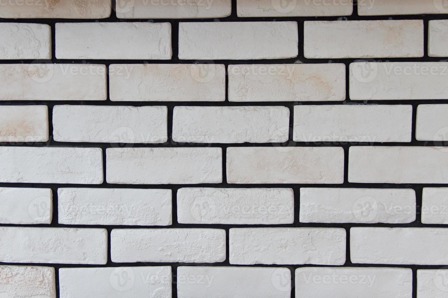 pared de ladrillo blanco foto