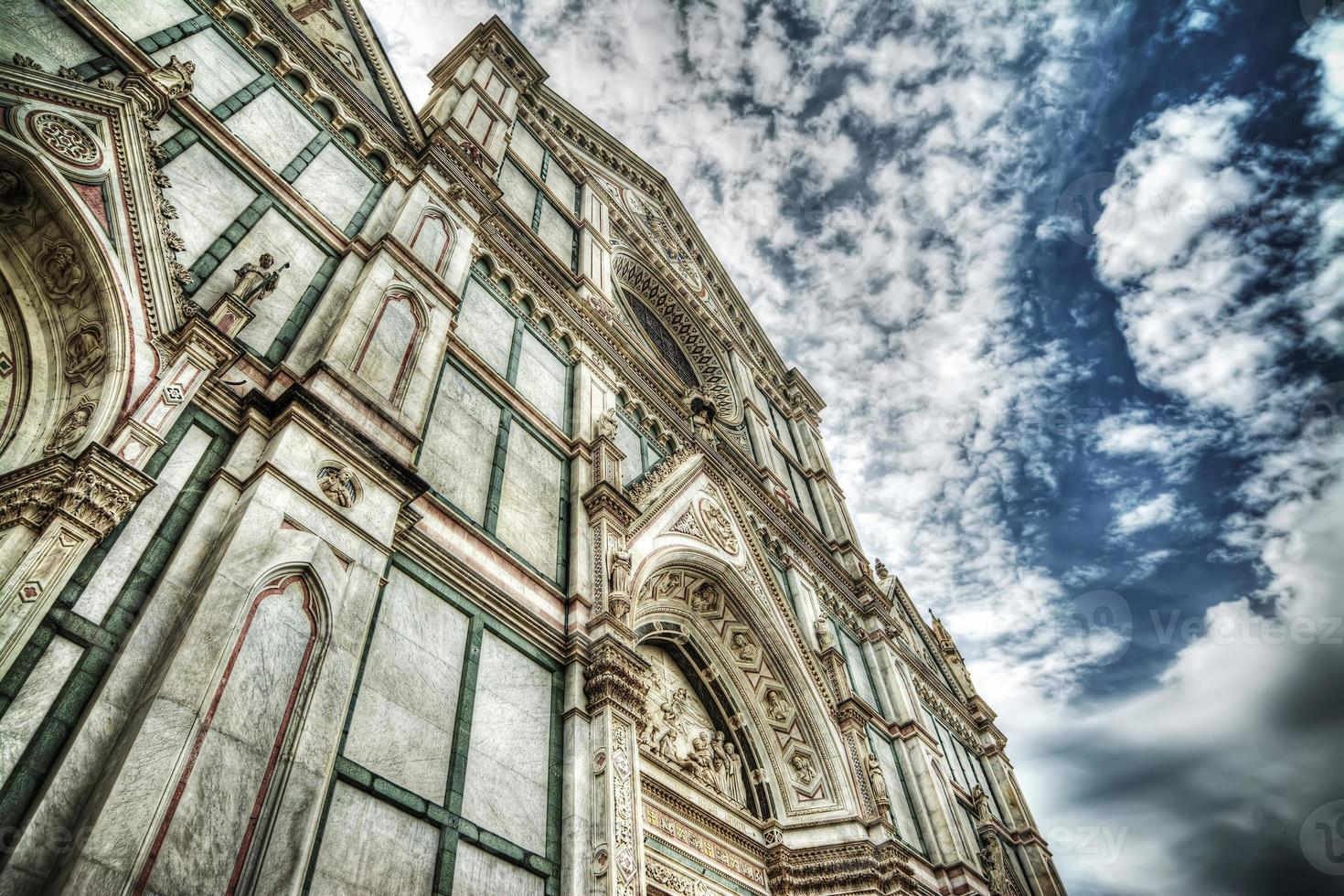 Santa Croce cathedral in hdr tone mapping effect photo