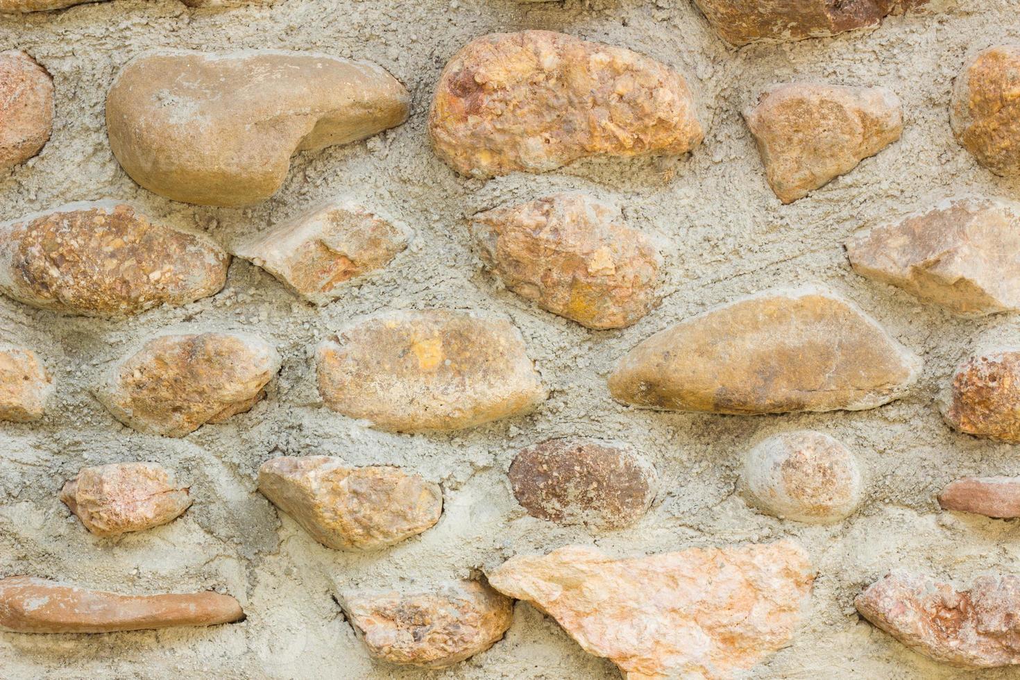 Grunge Mosaic Stone Wall. photo