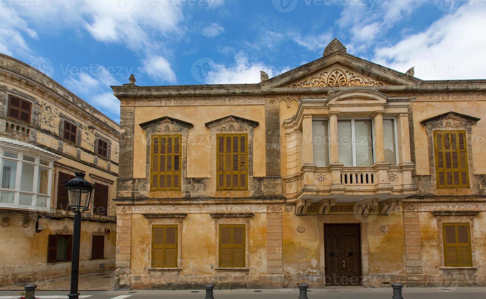 Ciutadella menorca centro histórico en ciudadela foto