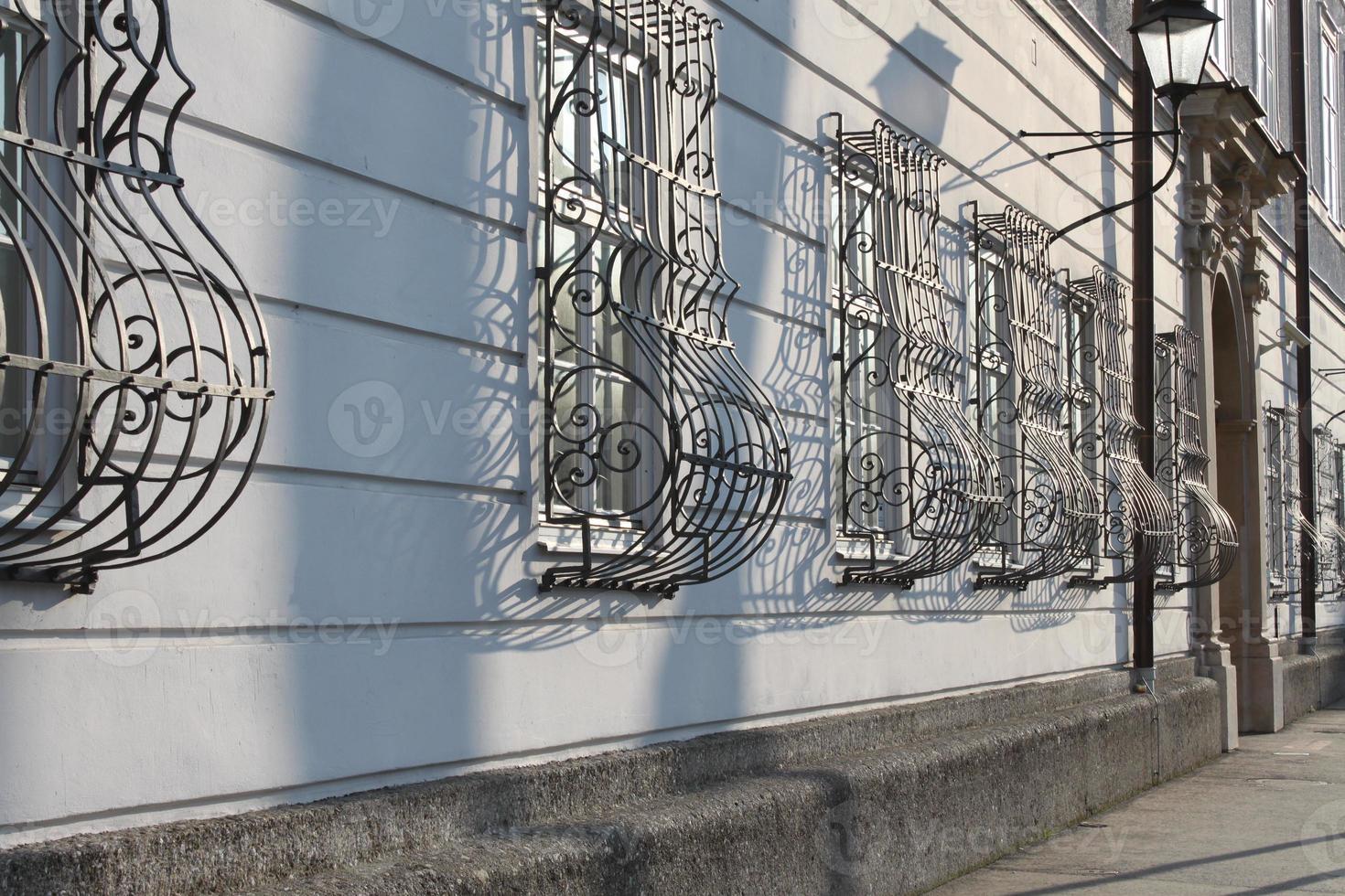 Curved window grate in salzburg photo