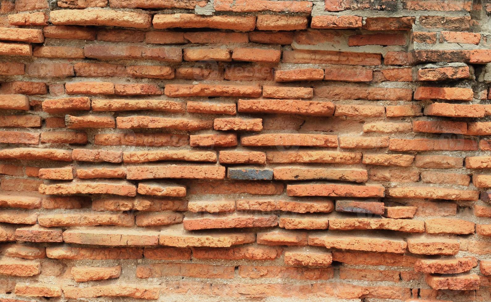 textura de la pared de ladrillo antiguo foto