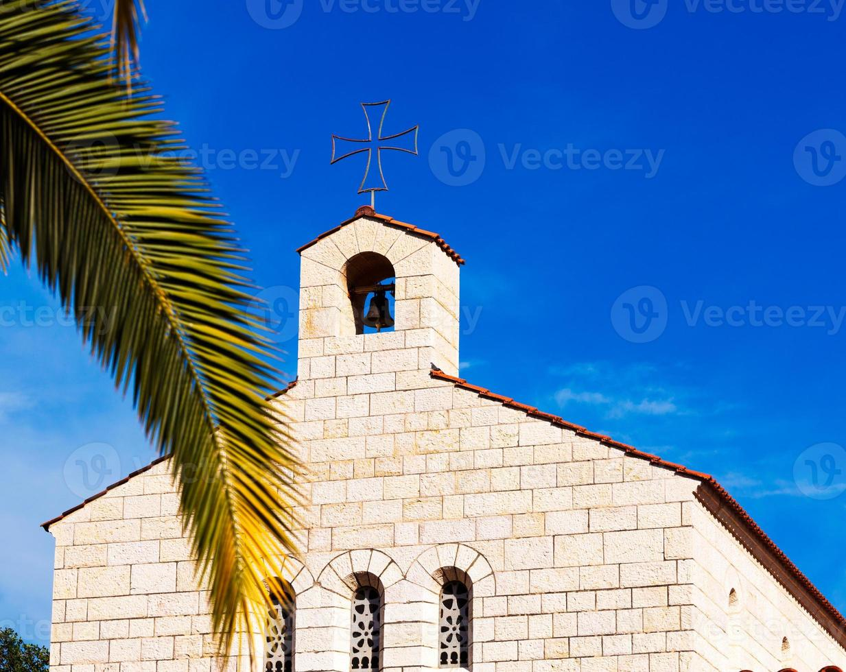 Church of Multiplication Facade in Tabgha photo