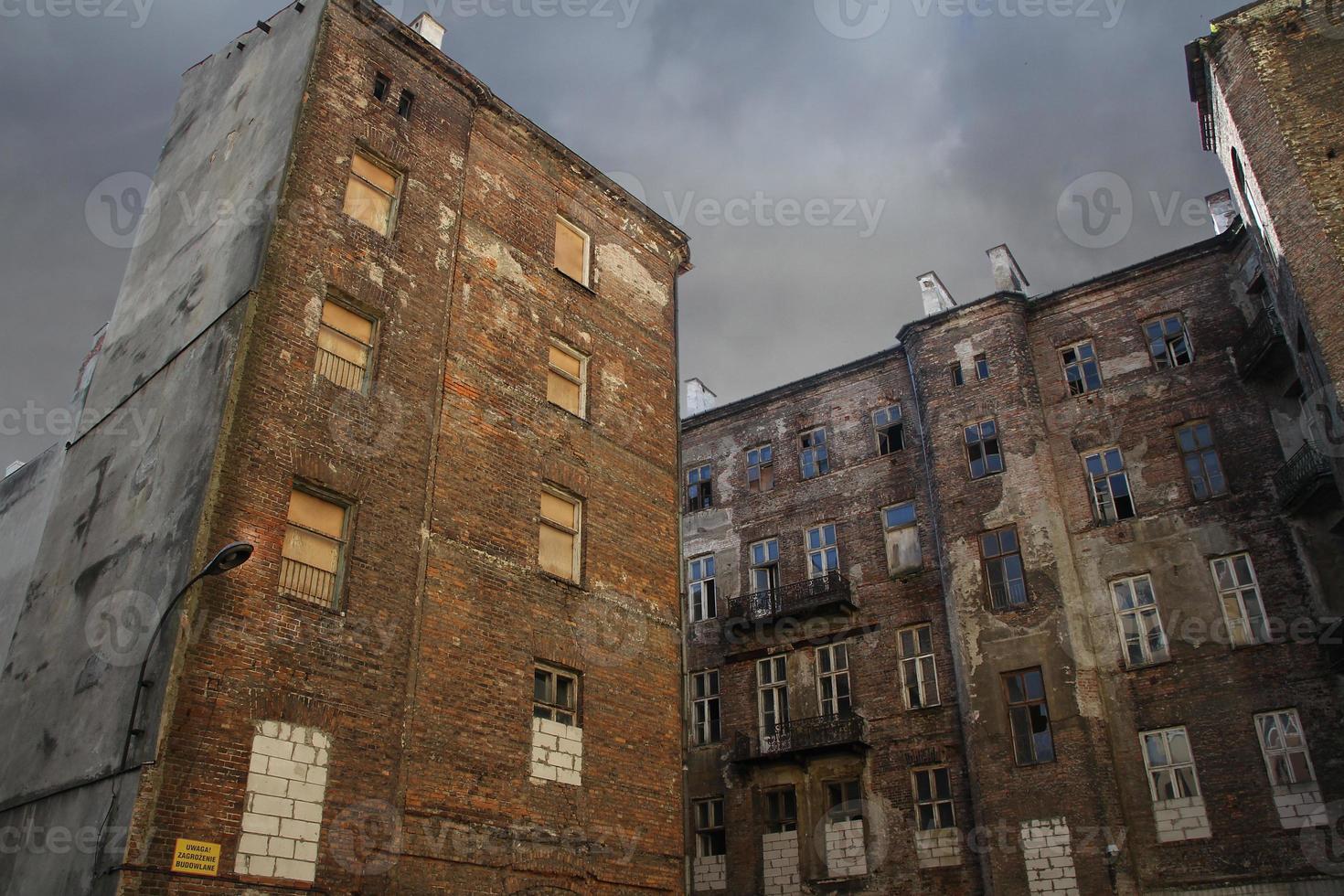 Fachada del gueto de Varsovia, Varsovia, Polonia foto