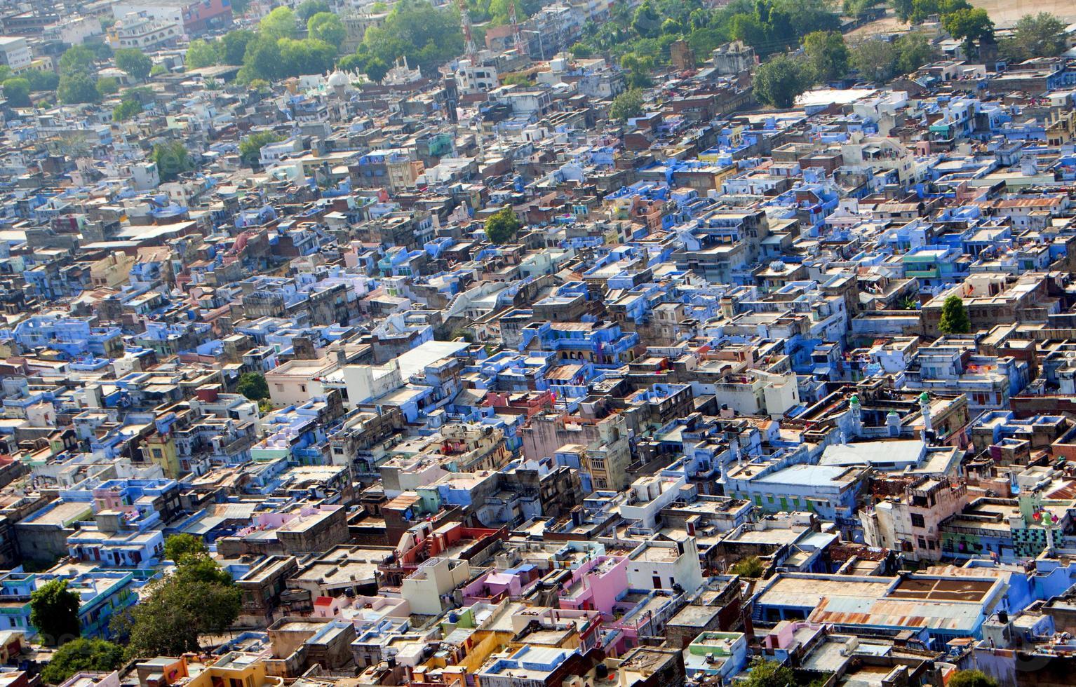 vista de la ciudad de chittorgarh desde el fuerte de chittorgarh, foto