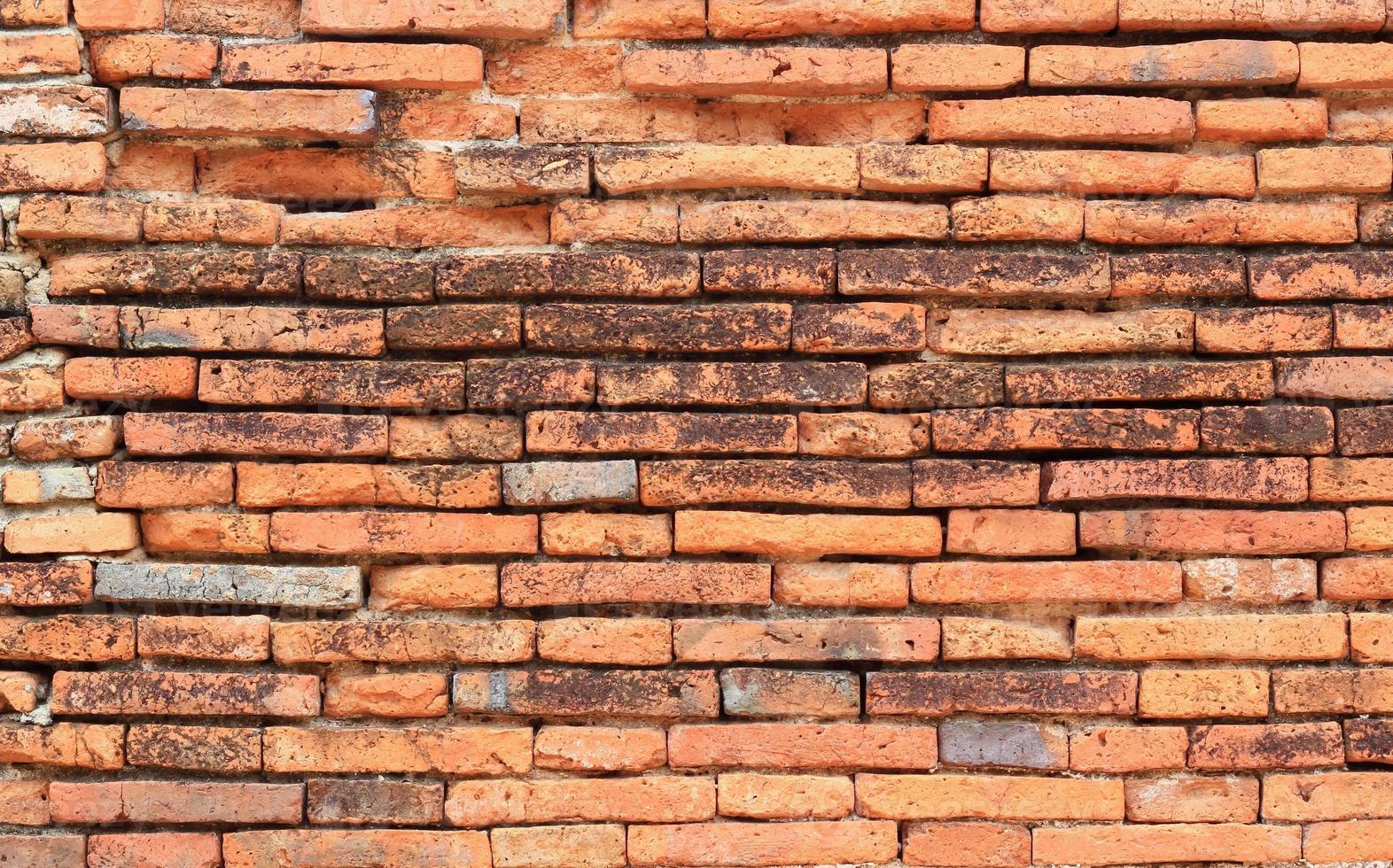 oude rode bakstenen muur textuur achtergrond foto