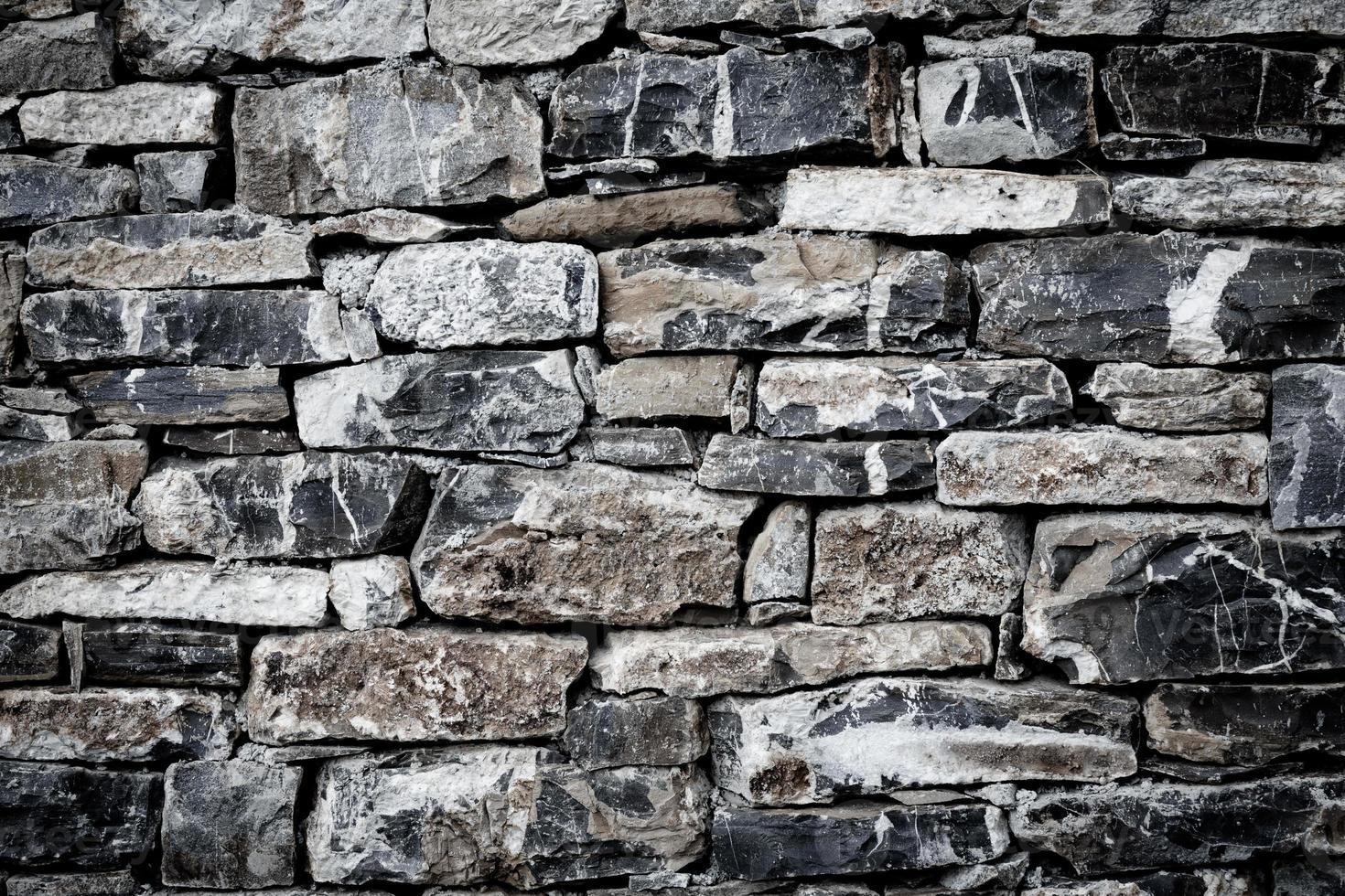 muro de piedras como textura foto