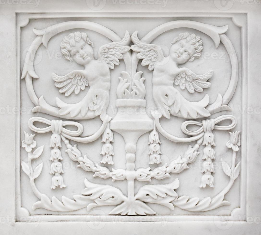 decorazione in pietra scolpita foto