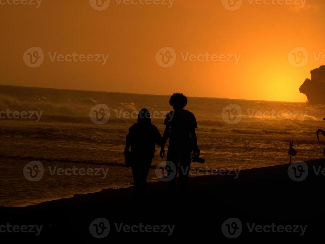 siluet romántico foto