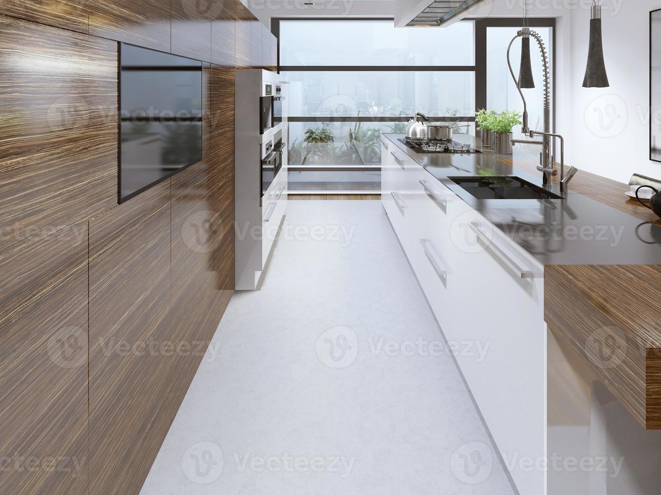 cuisine moderne conçue par la beauté photo